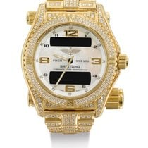 Breitling   A Yellow Gold, Diamond-set And Mother-of-pearl...