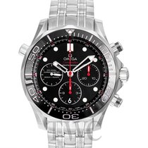 Omega Seamaster Diver 300m Chronograph Black Steel 44mm -...