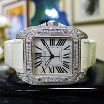Cartier Santos 100 Diamond Watch 34mm Automatic Ref: 2878