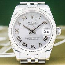 Rolex 178274 Datejust Midsize Oyster Rhodium Roman Dial /...