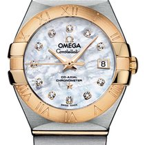 Omega Constellation Gold/Steel 27mm Mother of pearl Roman numerals