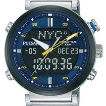 Pulsar Chronograph 44mm Quarz neu Blau