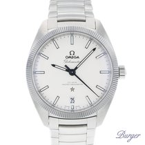 Omega Steel Automatic White 39mm new Globemaster
