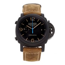 Panerai Luminor 1950 3 Days Chrono Flyback Cerâmica 44mm Preto Árabes