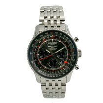Breitling Navitimer GMT Steel 48mm Black No numerals United States of America, New York, New York