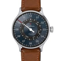 Meistersinger Steel Automatic Grey Arabic numerals 40mm new Pangaea Day Date