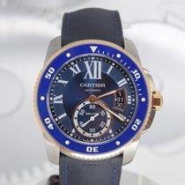 Cartier Calibre de Cartier Diver Золото/Cталь 42mm Синий Римские
