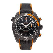 Omega Seamaster Planet Ocean Chronograph Ceramic 45.5mm Black No numerals