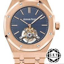 Audemars Piguet Royal Oak Tourbillon Rose gold 41mm Blue No numerals United States of America, New York, NEW YORK