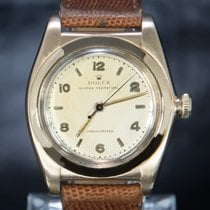 Rolex Bubble Back Or rouge 32mm Argent Arabes