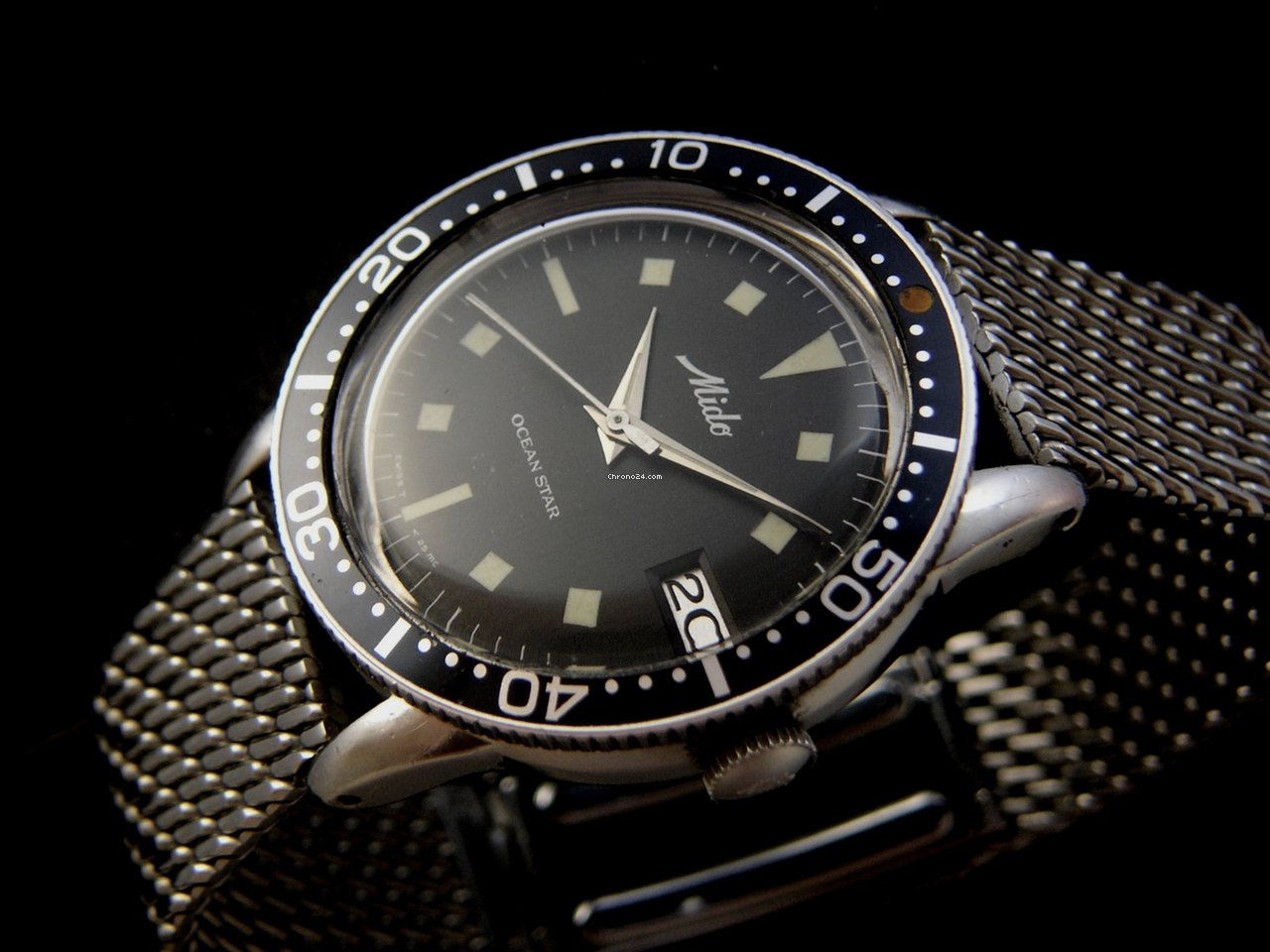 Mido rare ocean star diver watch 60 39 s sold on chrono24 for Mido watches