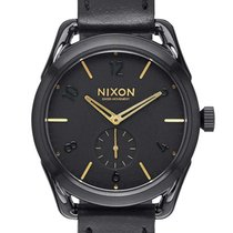 Nixon A459-010 C39 Leather Black Gold 39mm 10ATM bf1b5c7172