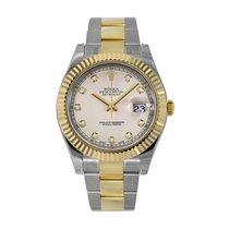 Rolex Datejust II Acero y oro 41mm Blanco Sin cifras
