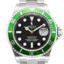 "Rolex Submariner Date Green Bezel  ""Kermit"" Black Dial..."