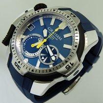 Graham Prodive Acier 45mm Bleu Sans chiffres