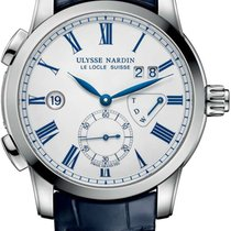 Ulysse Nardin Dual Time Steel 42mm White United States of America, New York, Airmont