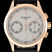 Patek Philippe Chronograph Rose gold 39.4mm Silver Arabic numerals