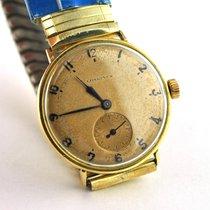 Longines Or jaune 30mm Remontage manuel Longines Vintage 18k Manual Winding Men's Watch occasion Belgique, Bruxelles