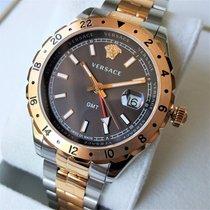 Versace Swiss Made Hellenyium GMT Sapphire Gold