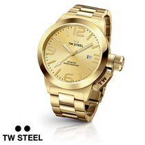 TW Steel 50mm Quarz neu Gold
