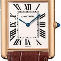 Cartier Rose gold Manual winding Silver Roman numerals 40,40mm new Tank Louis Cartier