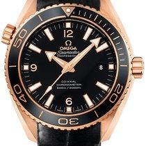 Omega Pозовое золото Автоподзавод Черный 45.5mm новые Seamaster Planet Ocean