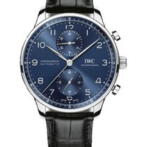 IWC Portuguese Chronograph Steel 40.9mm Blue Arabic numerals United States of America, Iowa