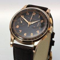 Baume & Mercier Chronograph 18K Roségold 37mm 1955 Vintage