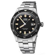 Oris 01 733 7720 4054-07 8 21 18 Steel Divers Sixty Five 42mm new