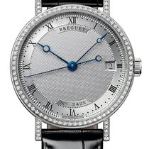 Breguet White gold 33.5mm Automatic 9068BB/12/976/DD00 new