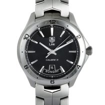 TAG Heuer Link Calibre 5 Steel 42mm Black United States of America, Pennsylvania, Southampton