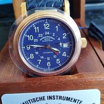 Mühle Glashütte M1 34-42 Gold 750, Lederarmband mit Massivgold Dornschließe 2000 new