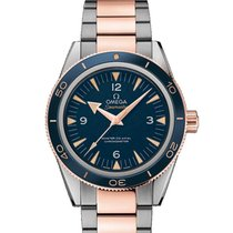Omega Platinum Automatic Blue 41mm new Seamaster 300