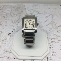 Cartier Tank Française pre-owned 25mm White Steel