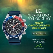 Seiko new Quartz Solar watch 50mm Steel Mineral Glass