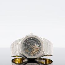 Audemars Piguet Royal Oak Double Balance Wheel Openworked Oro blanco 41mm Transparente Sin cifras
