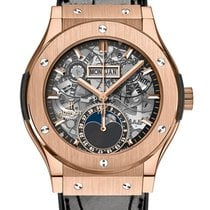 Hublot Rose gold Automatic Transparent No numerals 42mm new Classic Fusion Aerofusion