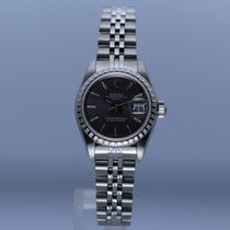 Rolex Oyster Perpetual Lady Date Acero 26mm Plata Sin cifras