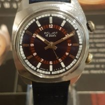 Poljot Steel 34mm Manual winding 778261 pre-owned