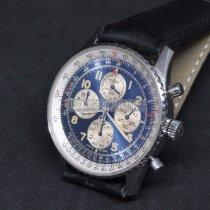 Breitling Navitimer Steel 38mm Blue Arabic numerals
