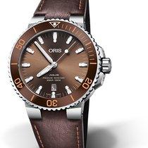 Oris Aquis Date Steel 43,50mm Brown No numerals