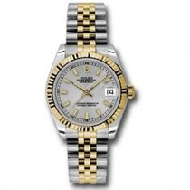 Rolex Lady-Datejust Acero y oro 31mm Plata
