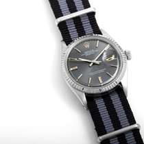 "Rolex 36mm SS DATEJUST Slate Stick - ""James Bond"" NATO Strap"