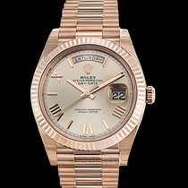 Rolex Rose gold Automatic Grey 40mm new Day-Date 40