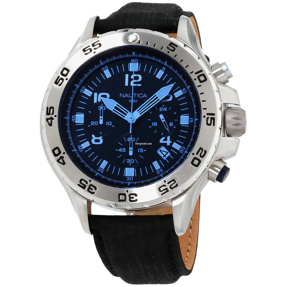 163c68553c2 Nautica Nst Blue Dial Leather Strap Men s Watch Nad19536g for  67 for sale  from a Seller on Chrono24