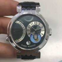 Harry Winston White gold Automatic Black 39mm pre-owned Premier