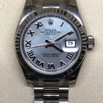 Rolex Lady-Datejust 179179 Nuevo Oro blanco 26mm Cuerda manual