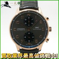 IWC Portuguese Chronograph Rose gold 40.9mm Black
