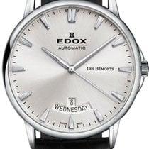 Edox Acero 42mm Automático 83015 3 BIN nuevo