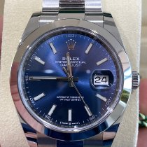 Rolex Steel Automatic Blue No numerals 41mm pre-owned Datejust